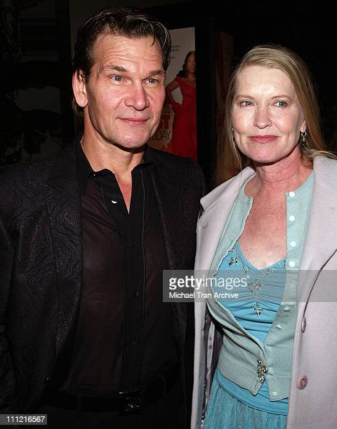 Patrick Swayze with his wife Lisa Niemi during 'Last Holiday' Los Angeles Premiere Arrivals at Cinerama Dome in Hollywood California United States