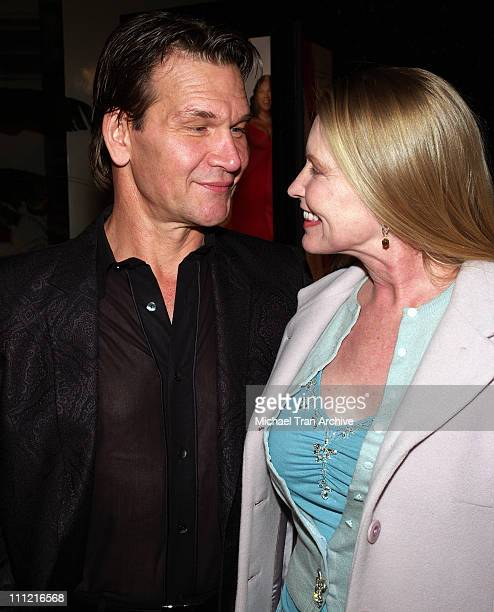 Patrick Swayze with his wife Lisa Niemi during Last Holiday Los Angeles Premiere Arrivals at Cinerama Dome in Hollywood California United States