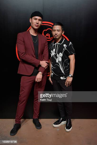 Patrick Ta and Hiro Odagiri attend the Shiseido Makeup Tokyo Launch Event on August 1 2018 in Tokyo Japan