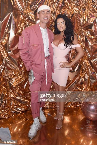 Patrick Ta and Suelyn Medeiros attend Patrick Ta Beauty Launch on April 4 2019 in Los Angeles California