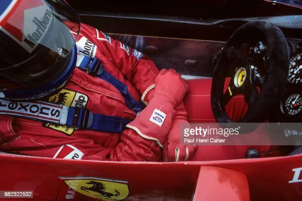 Patrick Tambay, Ferrari 126C2B, Grand Prix of Belgium, Circuit de Spa-Francorchamps, 22 May 1983. Patrick Tambay in the cockpit of his Ferrari 126C2B.
