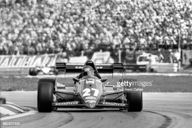 Patrick Tambay, Ferrari126C3, Grand Prix of Austria, Osterreichring, 14 August 1983. Starting from pole postion, Patrick Tambay in the lead during...