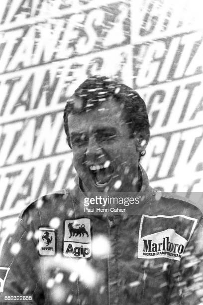 Patrick Tambay, Grand Prix of Belgium, Circuit de Spa-Francorchamps, 22 May 1983. Patrick Tambay driving his Ferrari in the majestic Spa...