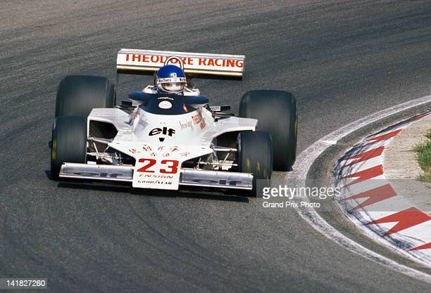 Patrick Tambay of France drives the Theodore Racing Hong Kong Ensign N177 Ford Cosworth DFV V8 during the Dutch Grand Prix on 28th August 1977 at the...
