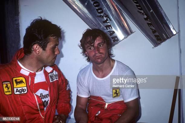 Patrick Tambay, Rene Arnoux, Grand Prix of Brazil, Jacarepagua, 13 March 1983.