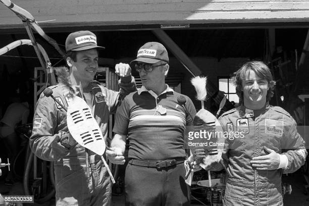 Patrick Tambay, Rene Arnoux, Grand Prix of South Africa, Kyalami, 15 October 1983.