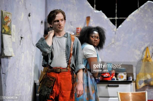 Patrick Terry as Joacim and Masabane Cecilia Rangwanasha as Susanna in The Royal Opera's production of George Frideric Handel's Susanna directed by...