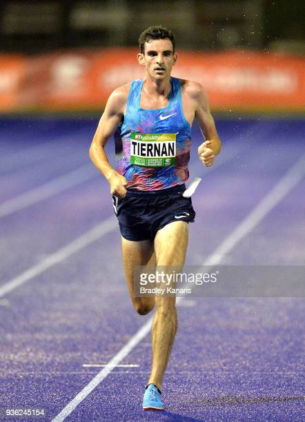 Patrick Tiernan competes in the Men's 5000m Race during the Summer of Athletics Grand Prix at QSAC on March 22 2018 in Brisbane Australia