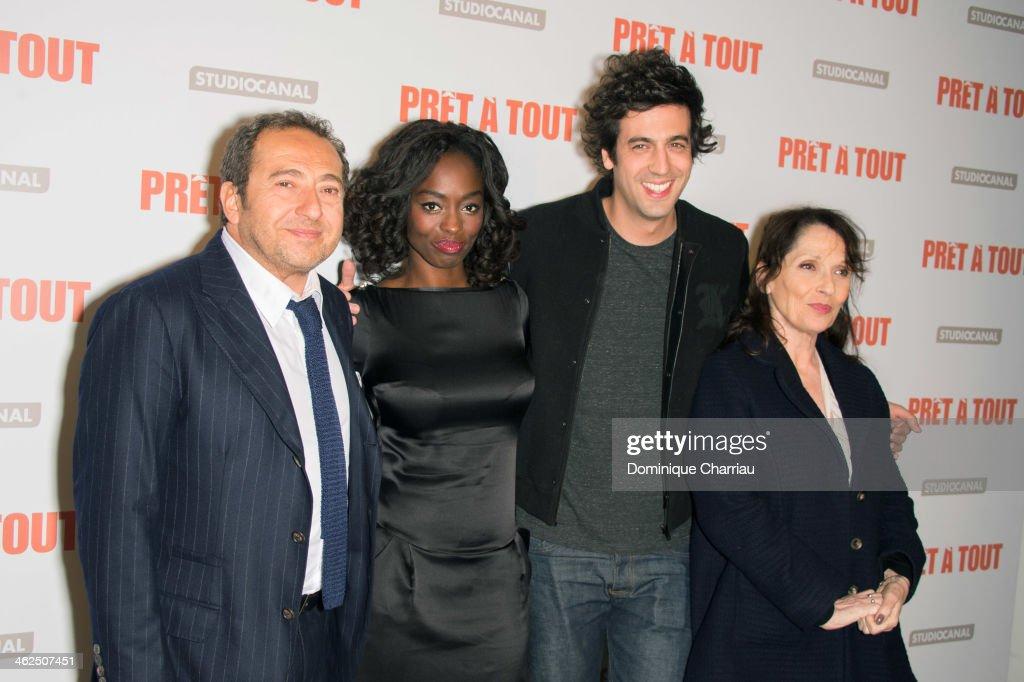 'Pret A Tout' Paris Premiere At Gaumont Champs Elysees Marignan In Paris