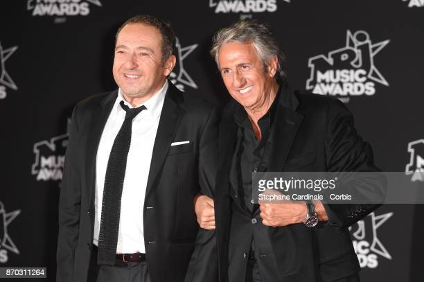 Patrick Timsit and Richard Anconina attend the 19th NRJ Music Awards on November 4 2017 in Cannes France