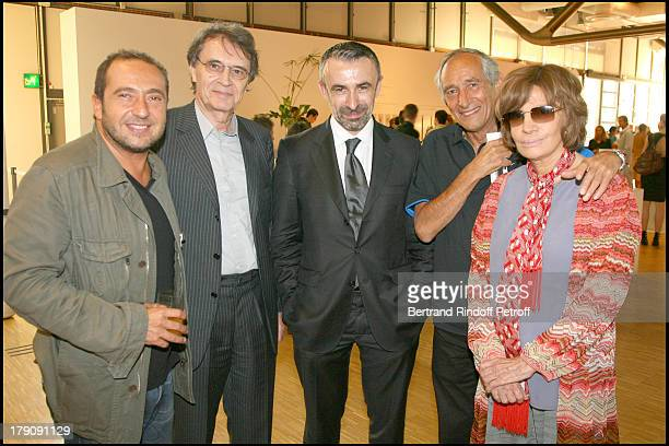 Patrick Timsit Bertrand De Labbey Alain Seban Alain Corneau and Nadine Trintignant at Private Viewing Of The Exhibition elles@centrepompidou...