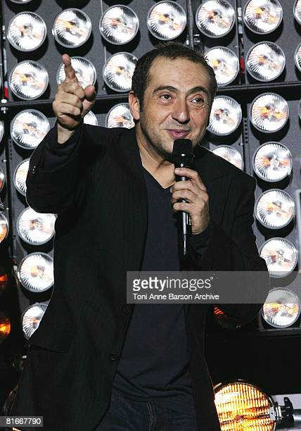 Patrick Timsit presents 'Le Rabbi Muffin' at the France 2 Television's 'Fete de la Musique' at the Auteuil Horse track on June 21 2008 in Paris France