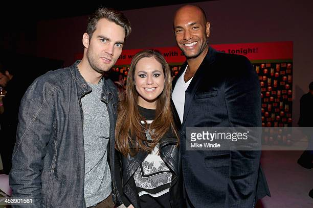 Patrick Toolan Nicole Schaeffer and Nylon associate publisher Karim Abay attend NYLON McDonald's Dec/Jan issue launch party hosted by cover star Demi...