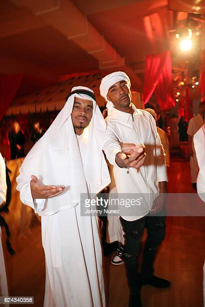 Patrick Toussaint and Andre King attend Fabolous' A Night In FABU DHABI Birthday Celebration on November 18 2016 in New York City