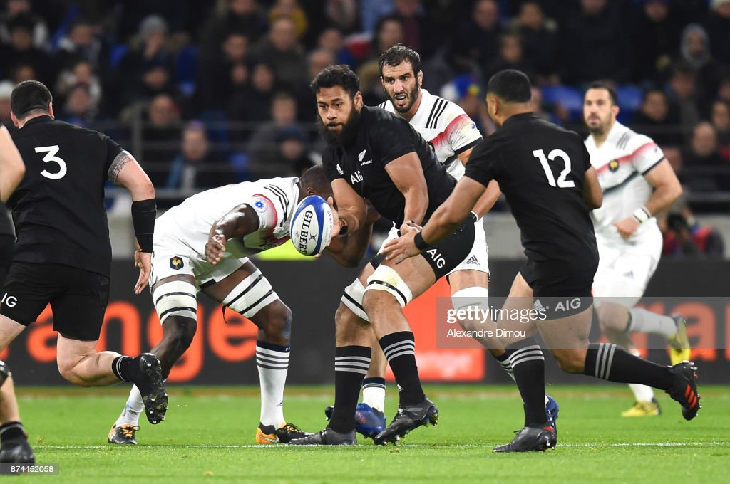 Patrick Tuipulotu of New Zealand during the rugby test match between France and New Zealand at Stade des Lumieres on November 14, 2017 in Lyon, France.