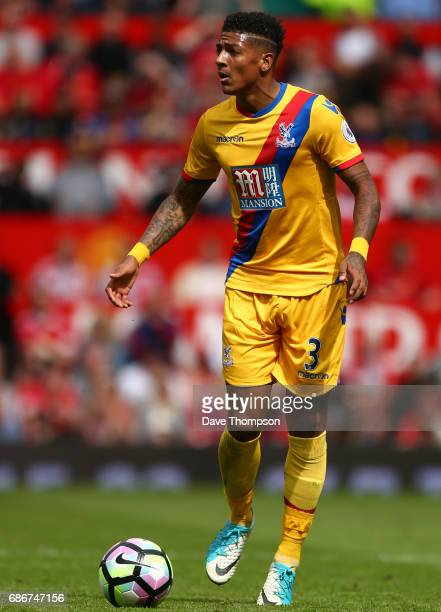 Patrick van Aanholt of Crystal Palace during the Premier League match between Manchester United and Crystal Palace at Old Trafford on May 21 2017 in...