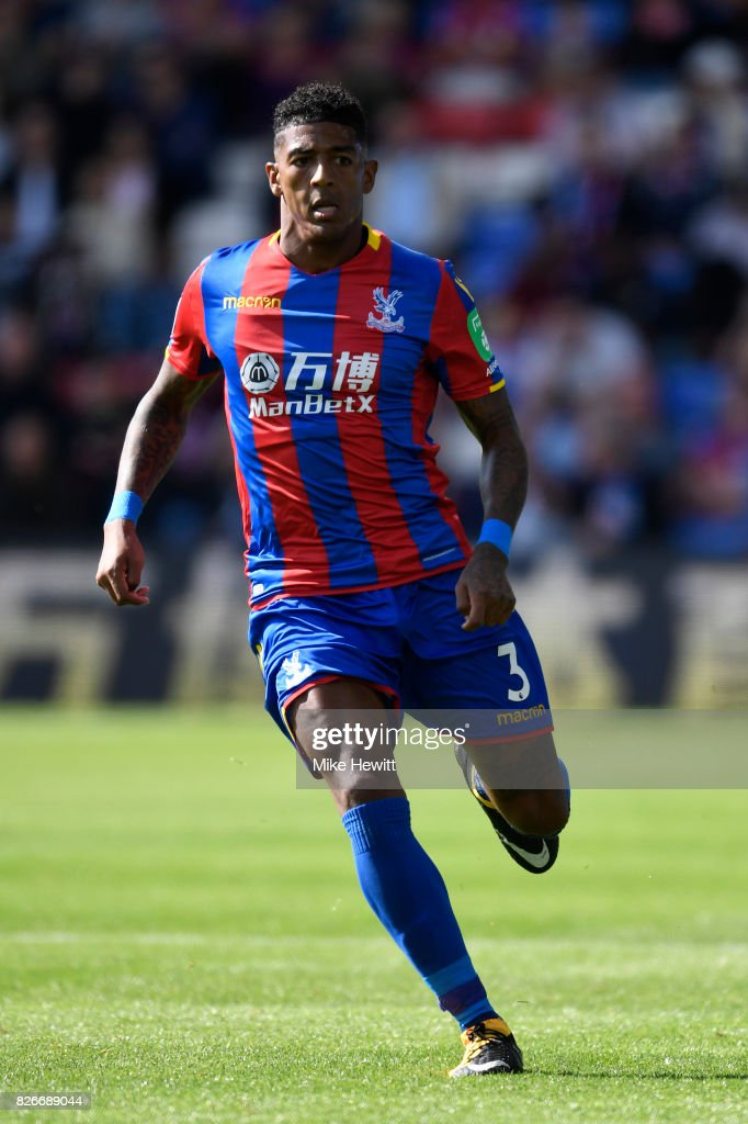 Patrick Van Aanholt of Crystal Palace in action during a Pre Season Friendly between Crystal Palace and FC Schalke 04 at Selhurst Park on August 5, 2017 in London, England.