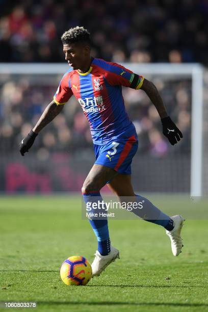 Patrick van Aanholt of Crystal Palace in action during the Premier League match between Crystal Palace and Arsenal FC at Selhurst Park on October 28...