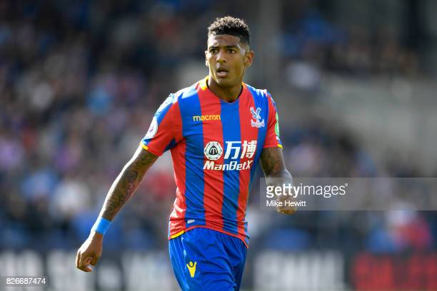 Patrick Van Aanholt of Crystal Palace looks on during a Pre Season Friendly between Crystal Palace and FC Schalke 04 at Selhurst Park on August 5...