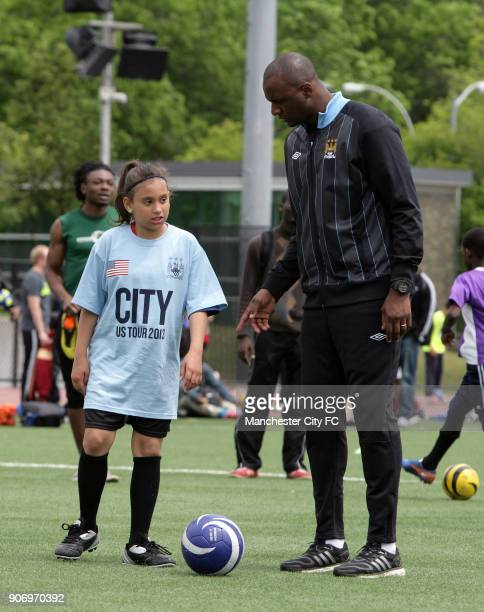 Patrick Vieira and Manchester City Training Session New York French former soccer player and Manchester City Football Development Executive Patrick...