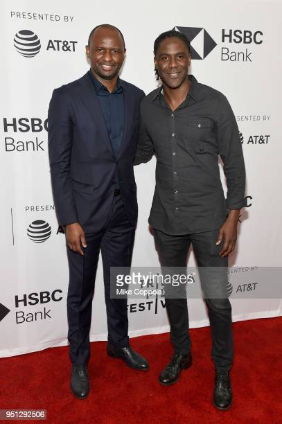 Patrick Vieira and Mario Melchiot attend the screening of 'Phenoms Goalkeepers' during the 2018 Tribeca Film Festival at SVA Theatre on April 25 2018...