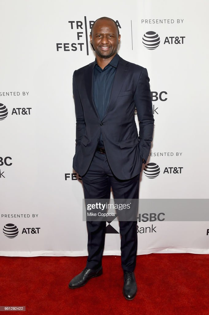 Patrick Vieira attends the screening of 'Phenoms: Goalkeepers' during the 2018 Tribeca Film Festival at SVA Theatre on April 25, 2018 in New York City.