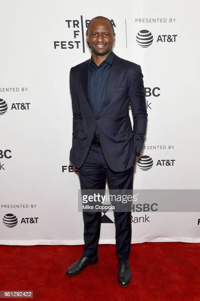 "Patrick Vieira attends the screening of ""Phenoms: Goalkeepers"" during the 2018 Tribeca Film Festival at SVA Theatre on April 25, 2018 in New York..."