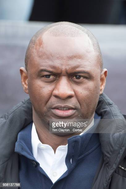 Patrick Vieira head coach of New York City FC on the sideline during the New England Revolution Vs New York City FC regular season MLS game at...