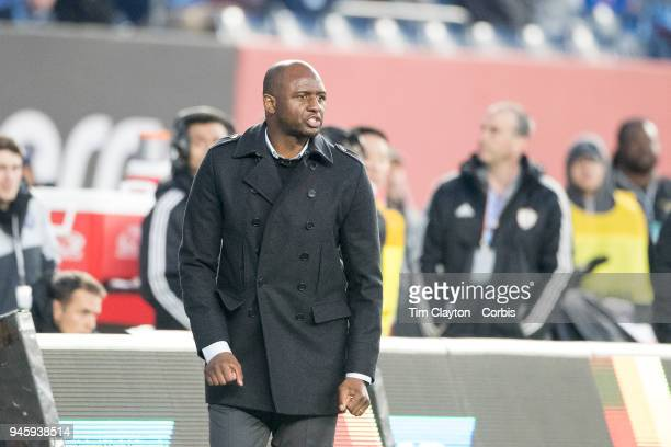 Patrick Vieira head coach of New York City FC on the sideline during the New York City FC Vs Real Salt Lake regular season MLS game at Yankee Stadium...
