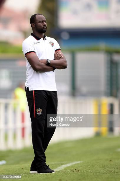 Patrick Vieira, head coach of OGC Nice, looks on during the friendly football match between Torino FC and OGC Nice. Torino FC won 1-0 over OGC Nice.