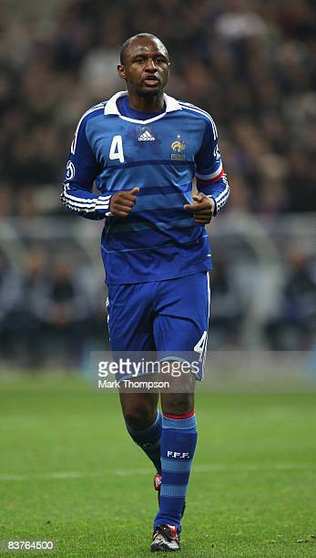 Patrick Vieira of France running during the International Friendly between France and Uruguay at the Stade de France on November 19 2008 in Paris...