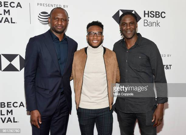 Patrick Vieira Rodney Wallace and Mario Melchiot attend the screening of 'Phenoms Goalkeepers' during the 2018 Tribeca Film Festival at SVA Theatre...