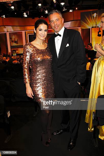 Patrick von Faber-Castell and his wife Mariella von Faber-Castell attend attend the 46th Golden Camera awards at the Axel Springer Haus on February...