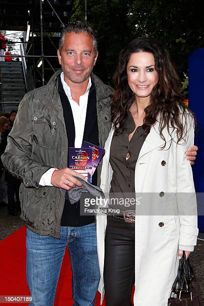 Patrick von Farber-Castell and his wife Mariella Ahrens attend the 'Seefestspiele' Open With Carmen in the Wannseebad on August 16, 2012 in Berlin,...