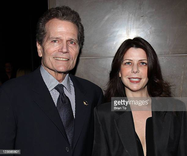 Patrick Wayne and wife Mischa Wayne attend Alana Stewart hosts exclusive shopping event benefiting John Wayne Cancer Institute Auxiliary at David...