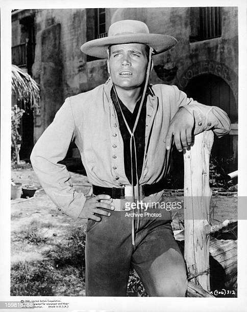 Patrick Wayne publicity portrait for the film 'The Alamo' 1960