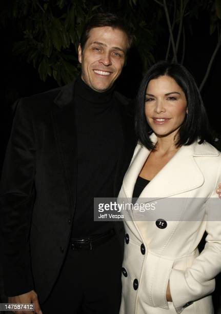 Patrick Whitesell and Lauren Sanchez during Giorgio Armani Prive in LA Inside at Green Acres in Los Angeles California United States