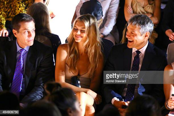 Patrick Whitesell Kelly Rohrbach and Ari Emanuel attend the BCBGMAXAZRIA fashion show during MercedesBenz Fashion Week Spring 2015 at The Theatre at...