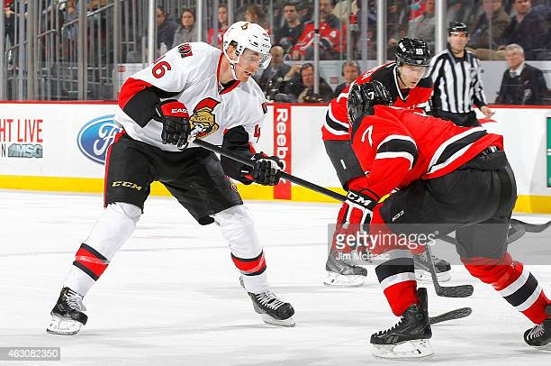 Patrick Wiercioch of the Ottawa Senators in action against the New Jersey Devils at the Prudential Center on February 3 2015 in Newark New Jersey The...