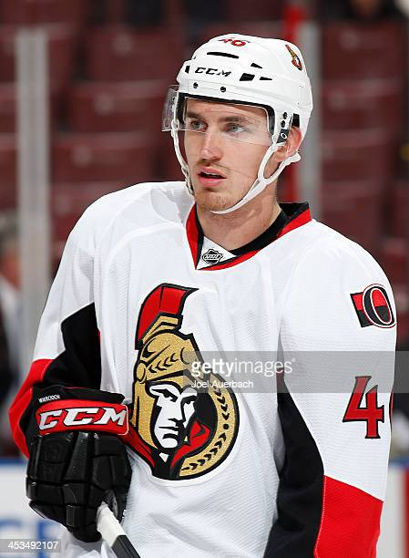 Patrick Wiercioch of the Ottawa Senators skates prior to the game against the Florida Panthers at the BBT Center on December 3 2013 in Sunrise...