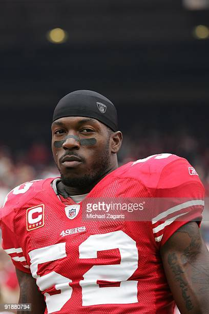 03eb6a1c7cc Patrick Willis of the San Francisco 49ers prior to the NFL game against the  Atlanta Falcons