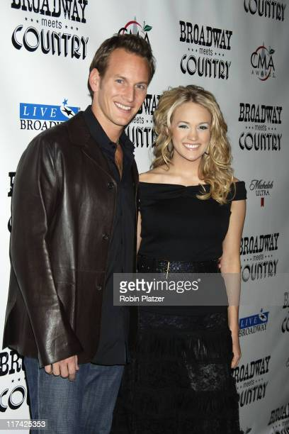 Patrick Wilson and Carrie Underwood during Country Takes New York City - Broadway Meets Country - Outside Arrivals at Allen Room, Jazz at Lincoln...