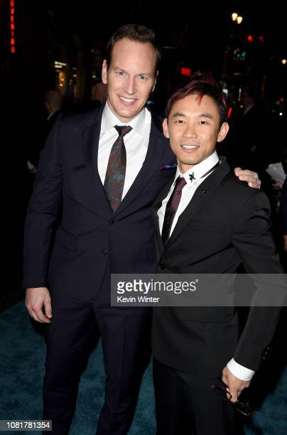 Patrick Wilson and James Wan attend the premiere of Warner Bros Pictures' Aquaman at TCL Chinese Theatre on December 12 2018 in Hollywood California