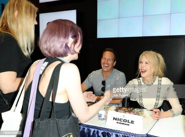 Patrick Wilson and Nicole Kidman greet fans during DC Entertainment's Warner Bros Pictures 'Aquaman' Autograph Signing during ComicCon International...