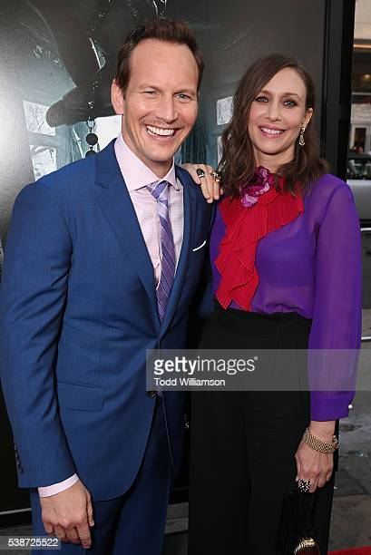 "Patrick Wilson and Vera Farmiga attend the Los Angeles Film Festival ""The Conjuring 2"" Premiere at TCL Chinese Theatre IMAX on June 7, 2016 in..."