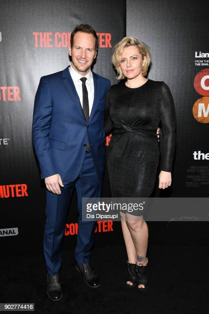 Patrick Wilson and wife Dagmara Dominczyk attend 'The Commuter' New York premiere at AMC Loews Lincoln Square on January 8 2018 in New York City