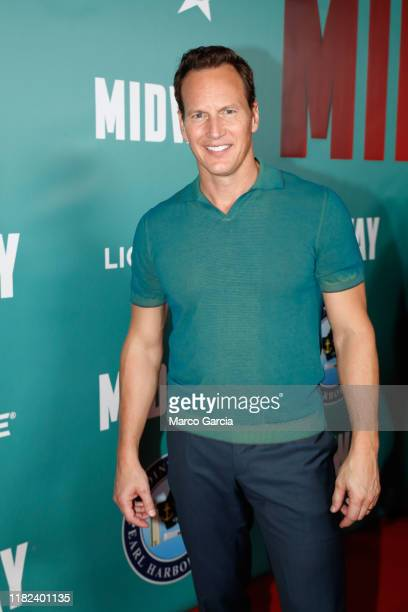 Patrick Wilson arrives at the Midway Special Screening at Joint Base Pearl HarborHickam on October 20 2019 in Honolulu Hawaii