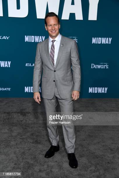 Patrick Wilson attends the Premiere Of Lionsgate's Midway at Regency Village Theatre on November 05 2019 in Westwood California