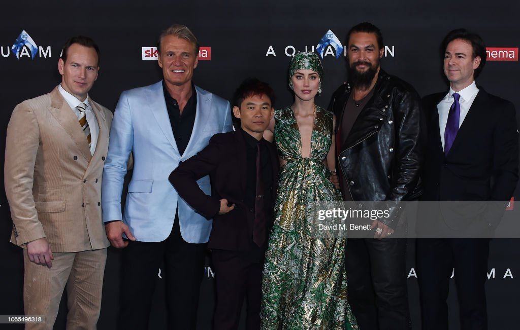 ¿Cuánto mide Dolph Lundgren? - Real height Patrick-wilson-dolph-lundgren-james-wan-amber-heard-jason-momoa-and-picture-id1065496318