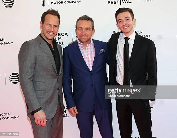 Patrick Wilson Eddie Marsan and Radek Lord attend 'A Kind of Murder' premiere during 2016 Tribeca Film Festival at SVA Theatre 2 on April 17 2016 in...